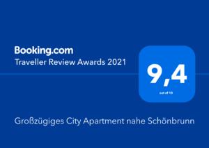 Booking.com Traveller Award 2021 Sonnenwohnen Apartment Hetzendorf